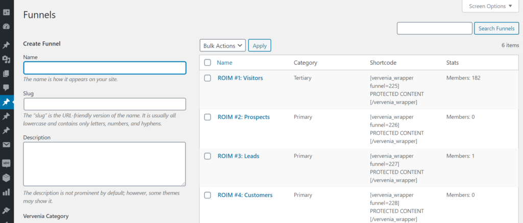 WordPress Marketing Funnels Plugin Vervenia Marketing Automation