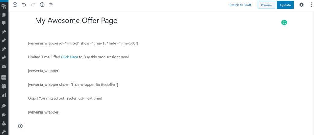 WordPress Show Hide Content Plugin