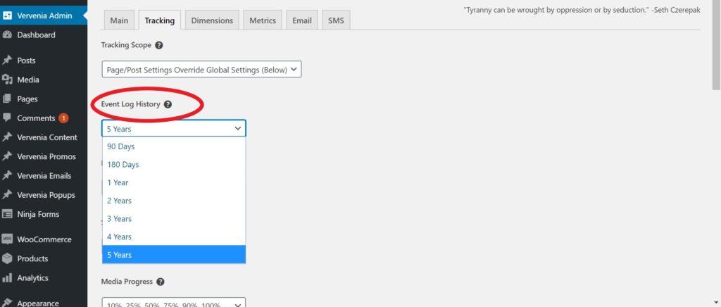 Wordpress Analytics Event Tracking Plugin