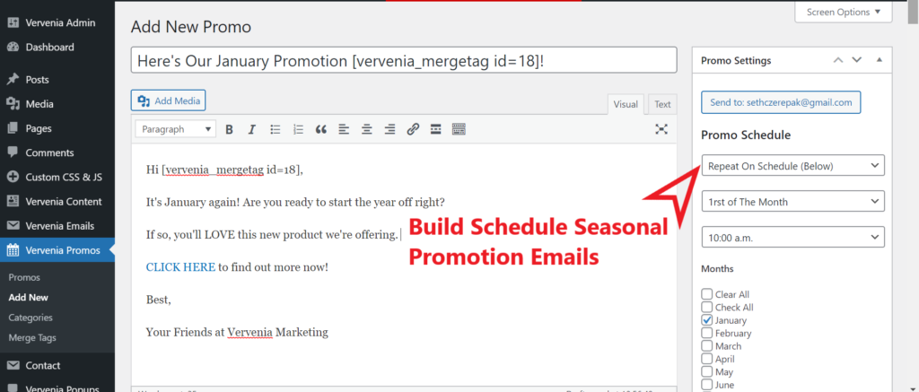 WordPress Email Marketing Plugin With Send By Date