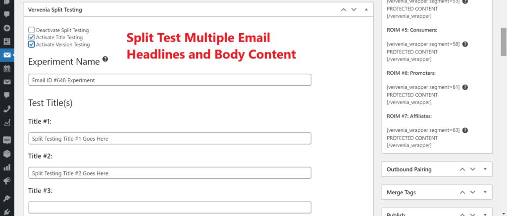 WordPress Email Marketing Plugin With Split Testing