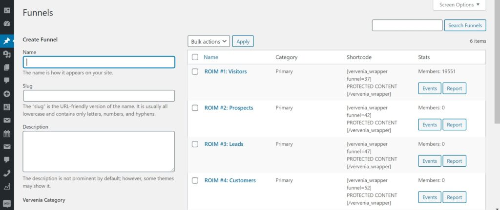 WordPress Marketing Funnel and Segmenting Plugin