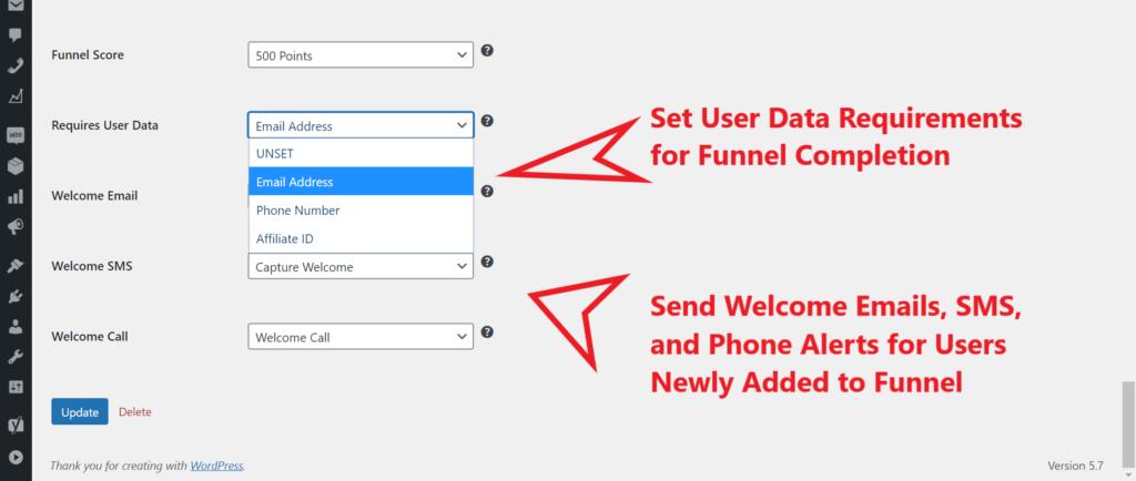 WordPress Marketing Funnel Tracking Plugin