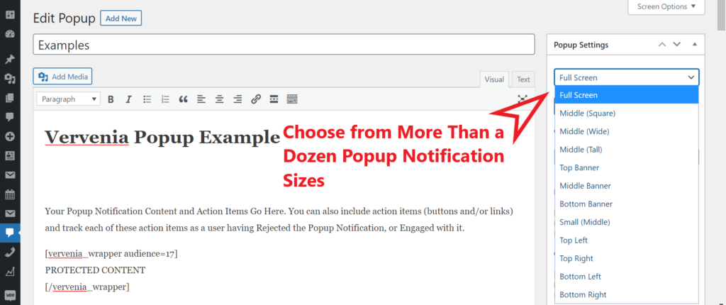 WordPress Popup Notification Plugin