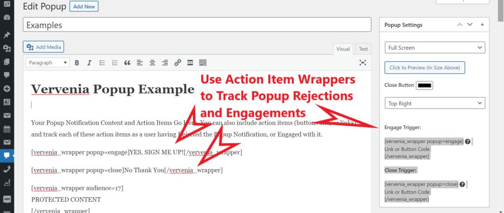 WordPress Popup Notification Plugin and Tracking Plugin