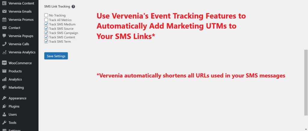 WordPress SMS Plugin With Link Tracking