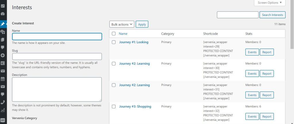 WordPress Interest Group Segmenting Plugin